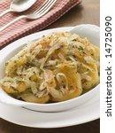 dish of lyonnaise potatoes