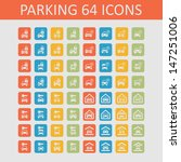 parking icons | Shutterstock .eps vector #147251006