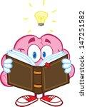 smiling brain cartoon character ... | Shutterstock . vector #147251582