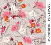 vintage sweet botanical forest...   Shutterstock .eps vector #1472539292