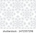 white and gray flower abstract... | Shutterstock .eps vector #1472557298