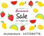 summer sale vector illustration ... | Shutterstock .eps vector #1472584778