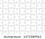 puzzle seamless pattern.... | Shutterstock .eps vector #1472589962