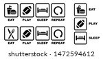 eat american football sleep... | Shutterstock .eps vector #1472594612