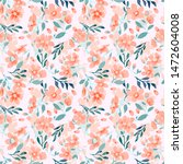 abstract floral seamless...   Shutterstock .eps vector #1472604008
