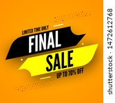 final sale banner. limited time ... | Shutterstock .eps vector #1472612768