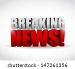 breaking news sign.... | Shutterstock . vector #147261356
