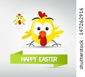 vector happy easter theme  ... | Shutterstock .eps vector #147262916