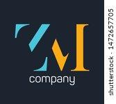 zm logo. company logo. monogram....   Shutterstock .eps vector #1472657705