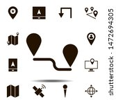 route  location icon. simple...