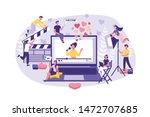 business concept influencer... | Shutterstock .eps vector #1472707685