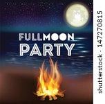 full moon party | Shutterstock .eps vector #147270815
