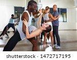 Multiracial Dancing Pairs...