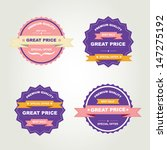 set of labels best sale.vector... | Shutterstock .eps vector #147275192