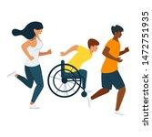 people exercising  training... | Shutterstock .eps vector #1472751935