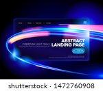 an abstract cyberpunk style of... | Shutterstock .eps vector #1472760908