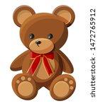 Teddy Bear With Bow. Bear Plush ...
