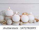 Burning White Ball Candles...