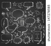 speech bubbles doodles in black ... | Shutterstock .eps vector #147278585
