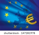 europe map and flag and euro  ... | Shutterstock .eps vector #147281978