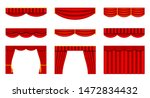 set of theater curtains.... | Shutterstock .eps vector #1472834432