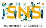 sns. social networking service  ...   Shutterstock .eps vector #1472853542