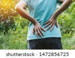 closeup hands of woman touching ...   Shutterstock . vector #1472856725