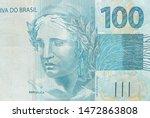 brazilian hundred real banknote.... | Shutterstock . vector #1472863808