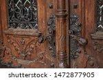 Old Wooden Carved Entrance Door
