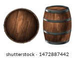 A Wooden Barrel For Storing...