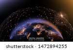 vector. planet earth from space.... | Shutterstock .eps vector #1472894255