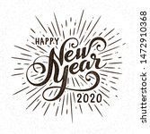 happy 2020 new year greeting... | Shutterstock .eps vector #1472910368