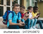 group of happy elementary...   Shutterstock . vector #1472910872
