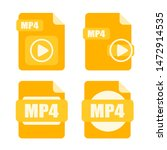 mp4 file icon. mp4 file vector...