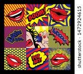 pop art card vector illustration | Shutterstock .eps vector #1472924615