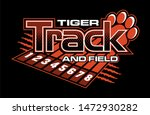 tiger track and field team... | Shutterstock .eps vector #1472930282