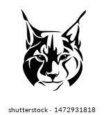 wild lynx looking straight...   Shutterstock .eps vector #1472931818