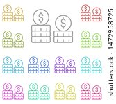 currency multi color icon....