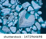 Icebergs Drone Aerial Image Top ...