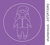 vector doll. toy  handmade ... | Shutterstock .eps vector #1472973392