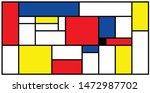 checkered piet mondrian style...
