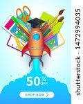 back to school sale vector... | Shutterstock .eps vector #1472994035