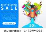 back to school sale  horizontal ... | Shutterstock .eps vector #1472994038