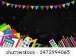 back to school education vector ... | Shutterstock .eps vector #1472994065