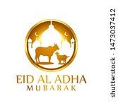 eid al adha graphic design with ...   Shutterstock .eps vector #1473037412