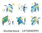 set of isometric concepts on... | Shutterstock .eps vector #1473040595