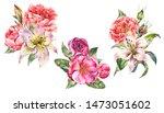 set of vintage watercolor...   Shutterstock . vector #1473051602