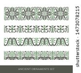 set of decorative ancient... | Shutterstock .eps vector #1473078215
