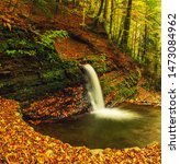 Autumn Mountain Waterfall...
