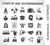 start up business and... | Shutterstock .eps vector #147309605